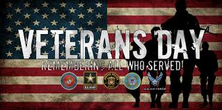 The Library is closed in honor of Veterans Day